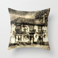 The Theydon Oak Pub Vint… Throw Pillow