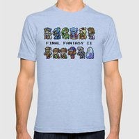 Final Fantasy II Characters Mens Fitted Tee Athletic Blue SMALL