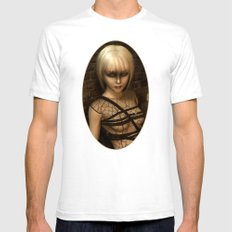 Sad Gothic Girl awaiting the storm  Mens Fitted Tee White SMALL