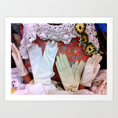 Vintage Gloves & Lace Art Print