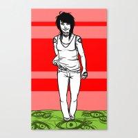 She Walks, We See Canvas Print