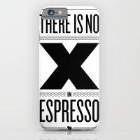 No X in Espresso – Black iPhone 6 Slim Case