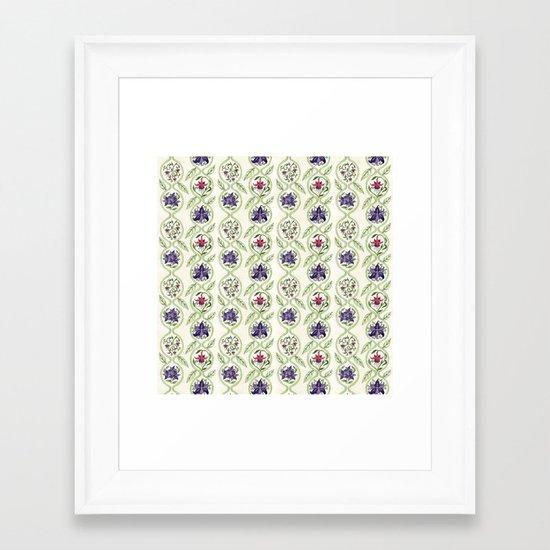 Nouveau Florals Framed Art Print