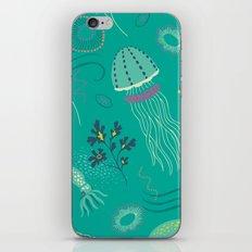 Into the Deep Jellies - Teal iPhone & iPod Skin