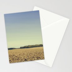 Lonely Field in Blue Stationery Cards