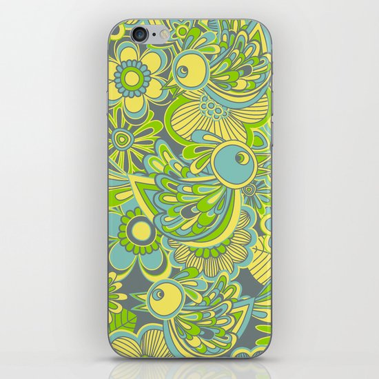 Welcome birds to...green iPhone & iPod Skin