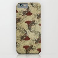 iPhone & iPod Case featuring shark fin goldfish school by vin zzep