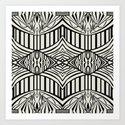 Geometric in Black and Beige Art Print