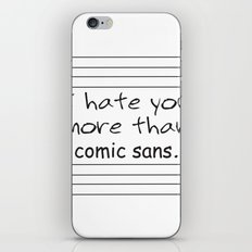 Comic Sans Hate iPhone & iPod Skin