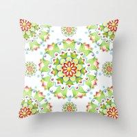 Firework Mandala Design Throw Pillow