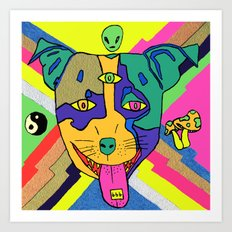 Tripping Puppy Art Print