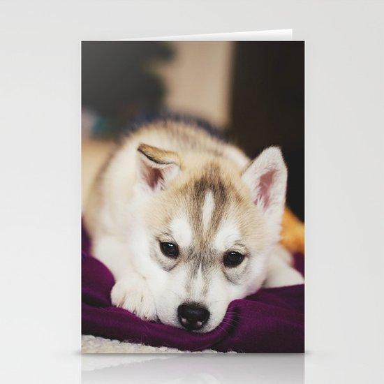 husky puppy. Stationery Card