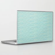 Blue Scribbles 05 Laptop & iPad Skin
