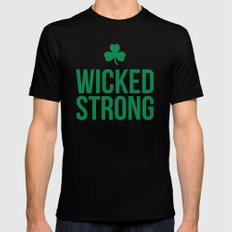Wicked Strong Green Black SMALL Mens Fitted Tee