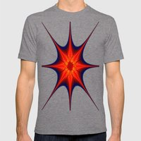 Starry Starry Mens Fitted Tee Tri-Grey SMALL