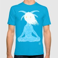 Pluto Mens Fitted Tee Teal SMALL