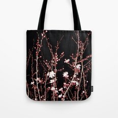 Winter night flowers Tote Bag