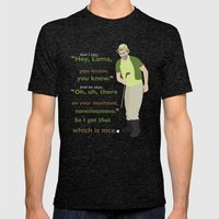 Carl Spackler and the Lama Mens Fitted Tee Tri-Black SMALL