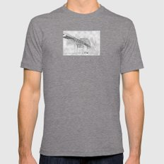 the blatnik Mens Fitted Tee Tri-Grey SMALL
