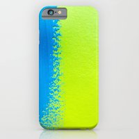 Blue Green Paint iPhone 6 Slim Case