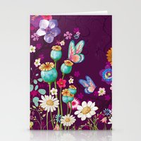 Purple Meadow Stationery Cards