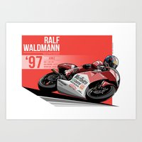 Ralf Waldmann - 1997 Jerez Art Print