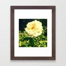 GLOWING FLOWER Framed Art Print