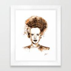 The Bride of Frankenstein Framed Art Print