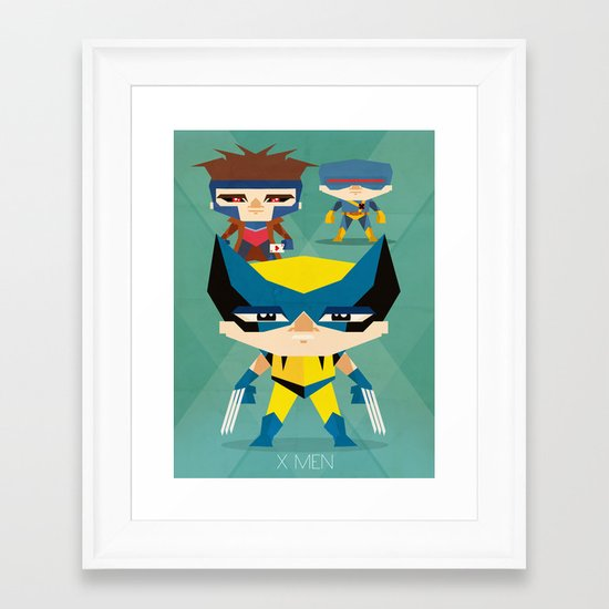 X Men fan art Framed Art Print