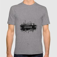 London Skyline Mens Fitted Tee Athletic Grey SMALL