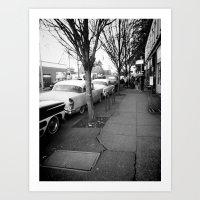 Down The Row Art Print