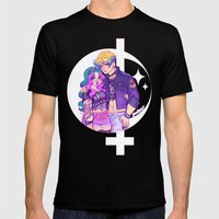 Pastel Goth Haruka & Mic… Mens Fitted Tee Black SMALL