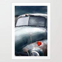 Blue Truck Art Print