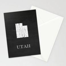 Utah State Map Chalk Drawing Stationery Cards