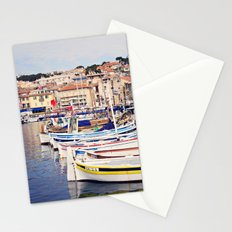 Boats in Cassis Harbor Stationery Cards