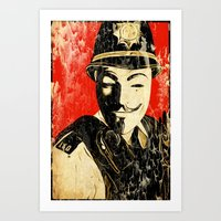 Anonymous Police Officer Art Print