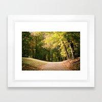 Autumn in Wisconsin Framed Art Print