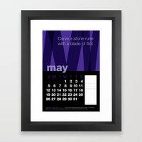 2013 Pigment to Pantone Calendar – MAY Framed Art Print