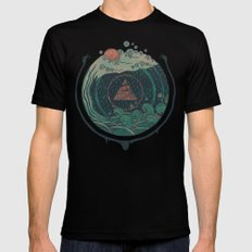 Water SMALL Black Mens Fitted Tee