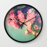 Wall Clock featuring Garden Party by Olivia Joy StClaire
