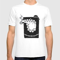 Zombie Hoodlum Mens Fitted Tee White SMALL