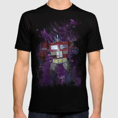 G1 - Optimus Prime Mens Fitted Tee Black SMALL