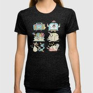 The Gangs All Here Womens Fitted Tee Tri-Black SMALL