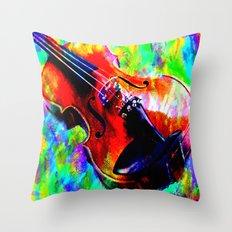 Violin Abstract Throw Pillow