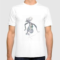 SHADOW PUPPET Mens Fitted Tee White SMALL