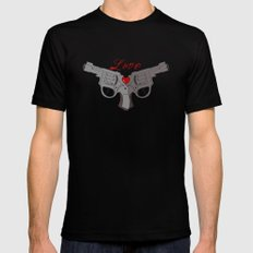 Love Guns SMALL Mens Fitted Tee Black