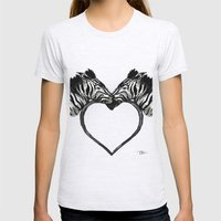 Zebra Love Womens Fitted Tee Ash Grey SMALL