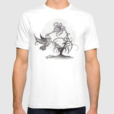 The Kiss SMALL Mens Fitted Tee White