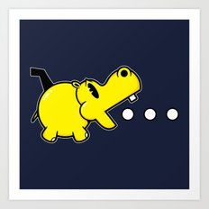 Waka Waka Hippos Art Print