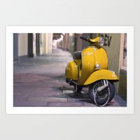 Scooter, Italy. Art Print